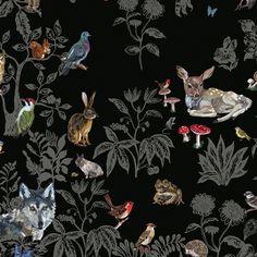 """Wallpaper """"la fôret noire"""" by Nathalie Leté for Domestic Designerss seen at www.thefanzynet.com"""