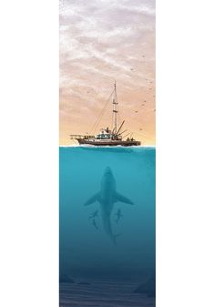Alternative movie poster for Jaws by JC Richard