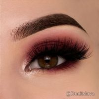 Maroon Smokey Eye @denitslava ♡♥♡♥♡♥