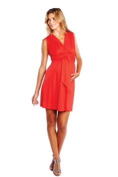 Sleeveless Tie Front Dress by Maternal America | Maternity Clothes   Available at Due Maternity www.duematernity.com