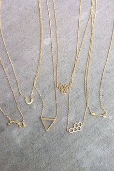 Dainty gold necklaces