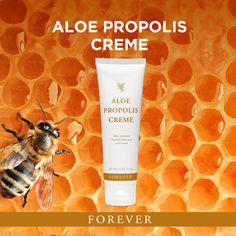 Propolis Creme Do more than moisturize and condition your skin. Forever Aloe, My Forever, Aloe Vera, Forever Living Business, Sloped Garden, Forever Living Products, Health And Wellbeing, Good Skin, Lotion