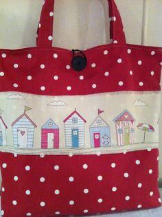 Beach Huts and Polka Dot Tote Bag from Lilyloom