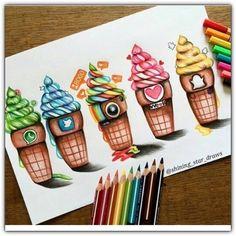 Image about art in by belen_neko_kawaii on We Heart It Amazing Drawings, Cool Art Drawings, Beautiful Drawings, Cool Artwork, Amazing Artwork, Cute Disney Drawings, Kawaii Drawings, Social Media Art, Art Drawings Sketches