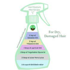 Hair care Ideas : DIY Hair Moisture Mist Hair moisturizer… – hair and beauty Natural Hair Care Tips, Natural Hair Journey, Natural Hair Styles, Pelo Natural, Belleza Natural, Natural Hairstyles For Kids, Diy Hairstyles, Ethnic Hairstyles, Black Hairstyles
