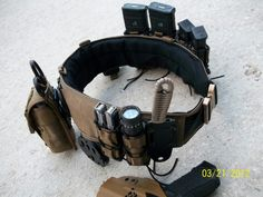 You're gonna need some thing to hold all zombie killin tools and keep them within reach! Airsoft, War Belt, Battle Belt, Tactical Survival, Survival Gear, Survival Skills, Tac Gear, Combat Gear, Shooting Gear