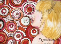 ANIMALES EN FONDO 60'S | Lola Kabuki  #love #art #watercolor #paintings #illustration