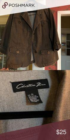 Brown denim blazer Brown denim blazer Jackets & Coats Blazers