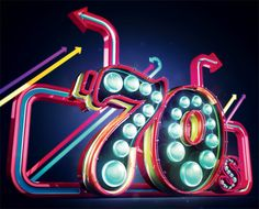 How to create neon typography in Cinema 4D
