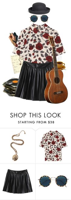"""""""Angel of Small Death"""" by causingpanicatthetheater ❤ liked on Polyvore featuring R.J. Graziano, Ganni, Eyevan 7285, Brooks Brothers and vintage"""