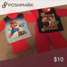 Boys 2pc Pajama Sets Long sleeve Angry Bird & Super Mario pajama sets | sizes 6/7 in boys | Gently worn and in good condition Pajamas Pajama Sets