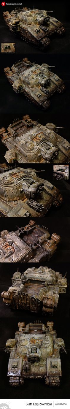 Death Korps Stormlord by fantasygames-pl on DeviantArt Warhammer Games, Warhammer Art, Warhammer Models, Warhammer 40k Miniatures, Warhammer Fantasy, Warhammer 40000, Fantasy Model, Fantasy Battle, Space Marine
