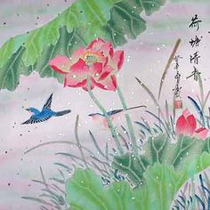 Enter code PINTEREST20 at checkout to get 20% off with free shipping anywhere in the world!!  This original painting of birds flying amongst the red flowers can be found at the-gallery-f-china.com.   In order to thank you for your interest in our original Chinese paintings, we would like to offer you 20% off any painting on the site.
