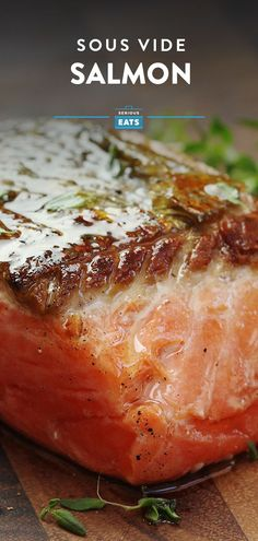 Sous Vide Salmon Recipe - - A step-by-step guide to perfectly cooked sous vide salmon, every time. Fish Recipes, Seafood Recipes, Gourmet Recipes, Cooking Recipes, Healthy Recipes, Healthy Food, Cooking Hacks, Cooking Videos, Eating Healthy