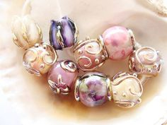9 Handmade Lampwork Beads by IrinaS on Etsy, $50.00