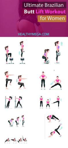 Brazilian Butt Lift Workout for Women - better buttocks - Healthy Mega #fitness #fitnessmotivation #fitnesstips #fitnessgoals #fitnessinspiration #butt #butworkout