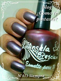 Colección Otoño-Invierno Angela Bresciano #swatches #nails #uñas #comotepintaste #esmaltes #polish #bordó #bordeaux #angelabresciano