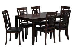 Janelle 7 Piece Dining Set $395