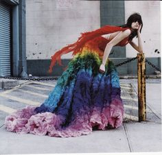 Rainbow McQueen Dress