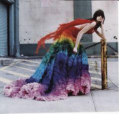 Rainbow McQueen Dress