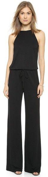 €140, Combinaison pantalon noire Lanston. De shopbop.com. Cliquez ici pour plus d'informations: https://lookastic.com/women/shop_items/147464/redirect