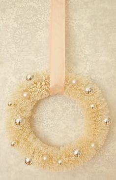 Wreath of Silver Balls. by rosalyn