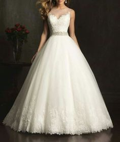 Ball Gown Wedding Dresses : Picture Description 2015 New White/ivory Wedding dress Bridal Gown custom size Tulle Wedding, Dream Wedding Dresses, Bridal Dresses, Wedding Gowns, Mermaid Wedding, Ivory Wedding, Bridesmaid Gowns, Backless Wedding, Wedding Blog