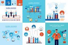 10 Business Concept Banner Set by Anttoniu on @graphicsmag