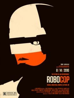 Robocop film poster by Olly Moss