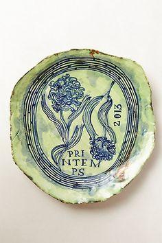 Naturaleza Viva Plate #anthropologie. Just love the ceramics by Ruan Hoffmann