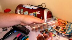 Recycling- How to make beads from a plastic bottle - soda, water, etc with permanent markers, needle nose pliers, heat gun or hair dryer.