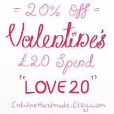 """20% Off a £20 order until 14th February ♥️ Coupon code """"LOVE20"""""""