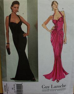 Halter Dress by Guy Laroche Vogue Paris by patterntreasury on Etsy