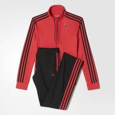 Essentials 3-Stripes Track Suit - Red
