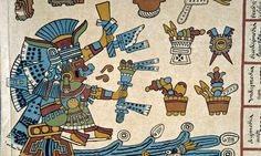Aztec manuscript under the microscope.