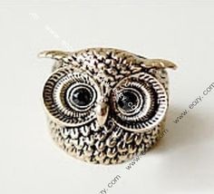 $0.4  Vintage Retro Gothic Punk Rock Alloy Knuckle Unisex Rings Owl #RingswithoutCrystal #eozy