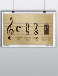 Odd Quartet Store - Wibbly-wobbly Timey-wimey Poster