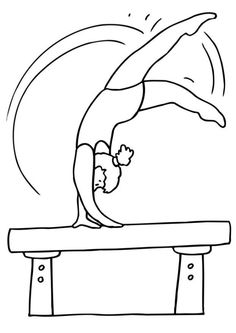 Sport Coloring, : sporty coloring pages for kids gymnastics