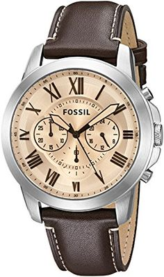 Fossil Men's FS5152 Grant Chronograph Dark Brown Leather Watch