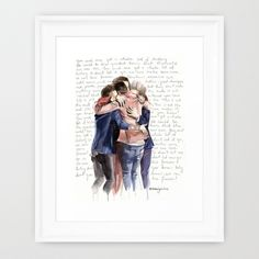 One Direction by Waterlyrics Team Framed Art Print available on Society6