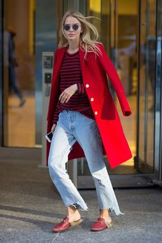 Sasha Luss in New York.