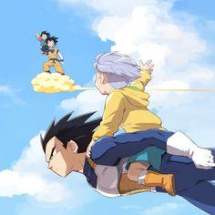 DBZ Vegeta Trunks Goku Goten