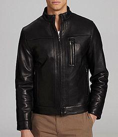 8b96b7e68b7 Murano Lambskin Leather Jacket  Dillards