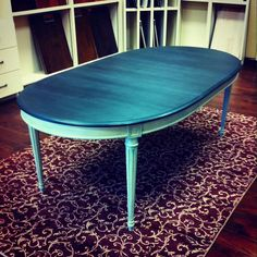 Image result for square dining room table painted in provence chalk paint