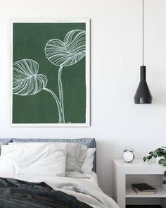 Green Art, Botanical Art, Line Drawing, Gouache, Modern Art, Tapestry, Photo And Video, Wall Art, Interior Design