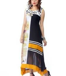 Buy multicolor printed Georgette kurtis party-wear-kurti online