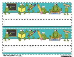 This is a Frog Desk Tag, which you can print as many as needed for your classroom.  There are two tags on one page, each measuring 10 by 3.5 inches...