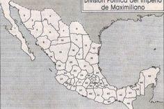 División política del imperio de Maximiliano