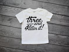 3rd Birthday Shirt Boy 3 Year Old Fast Shipping Soft Cotton Toddler Bday Shirts Three And Killin It