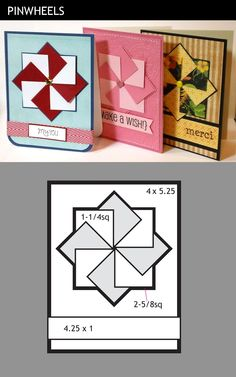 Cool pinwheel cards and some other great card ideas for scraps